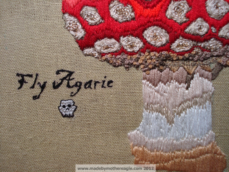 Fly Agaric freestyle embroidery