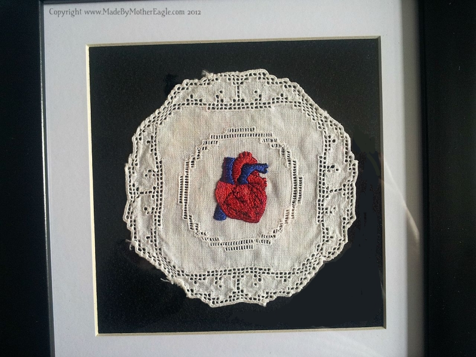 Anatomical human heart art
