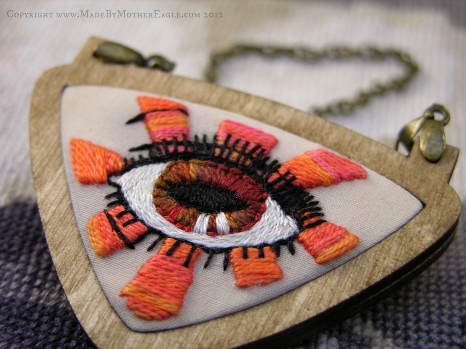embroidered evil eye