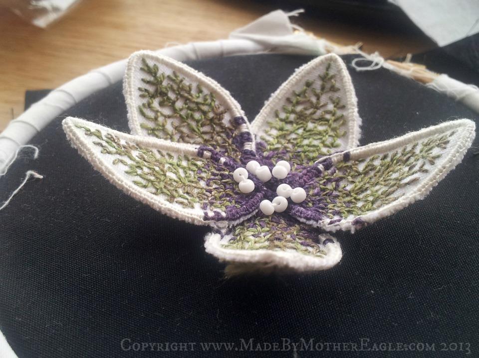 poisonous black henbane hand embroidery