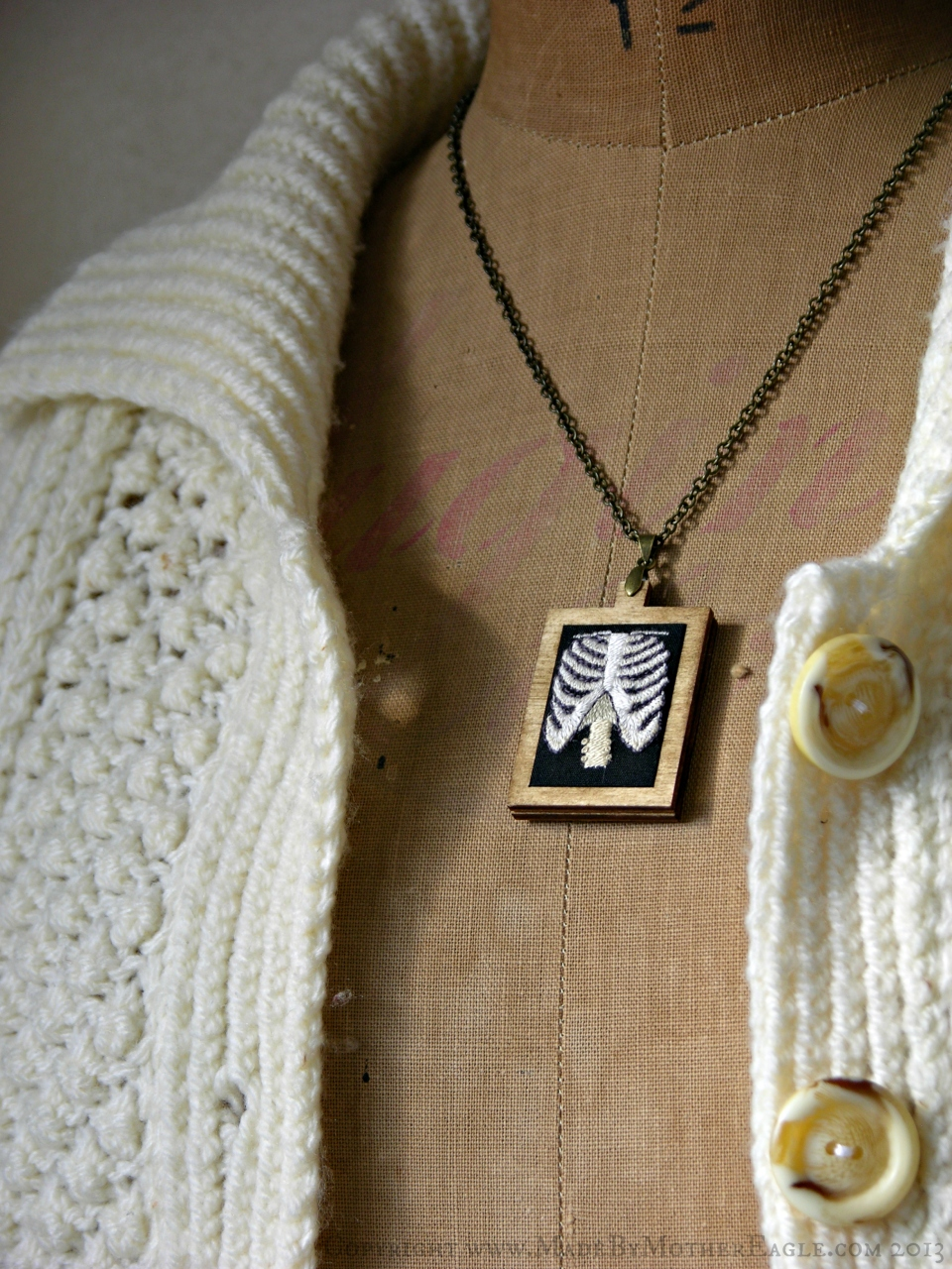 hand embroidery ribcage