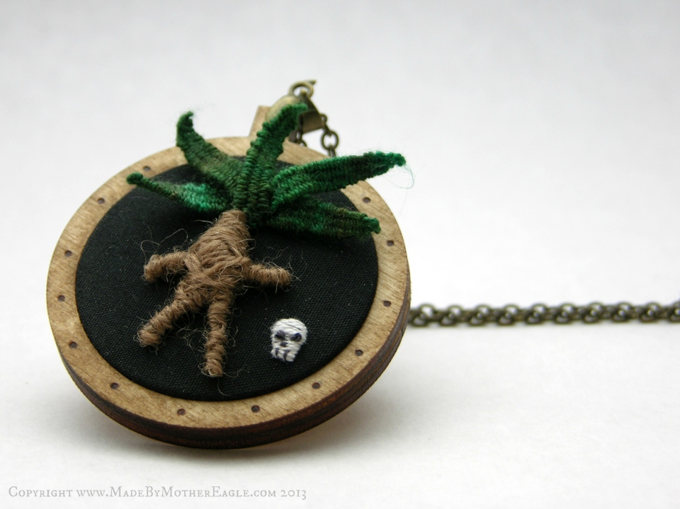 The All Hallow's Mandrake Pendant