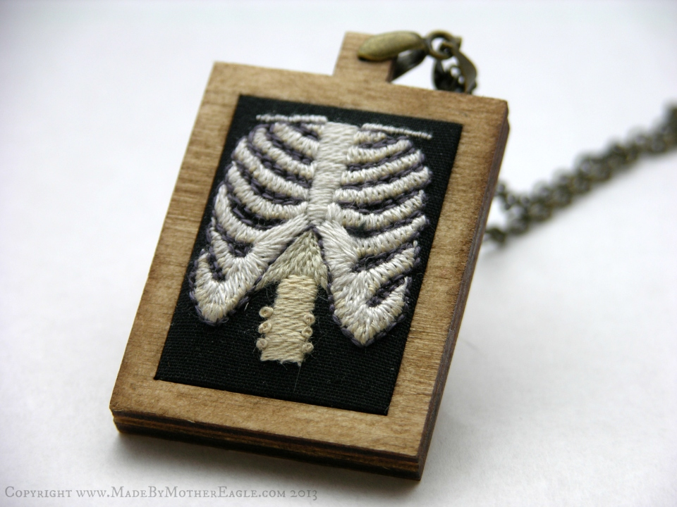 The All Hallow's Ribcage Pendant