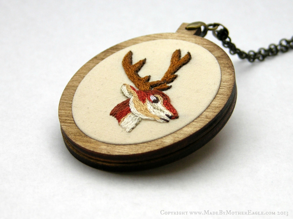 The All Hallow's Red Stag Pendant