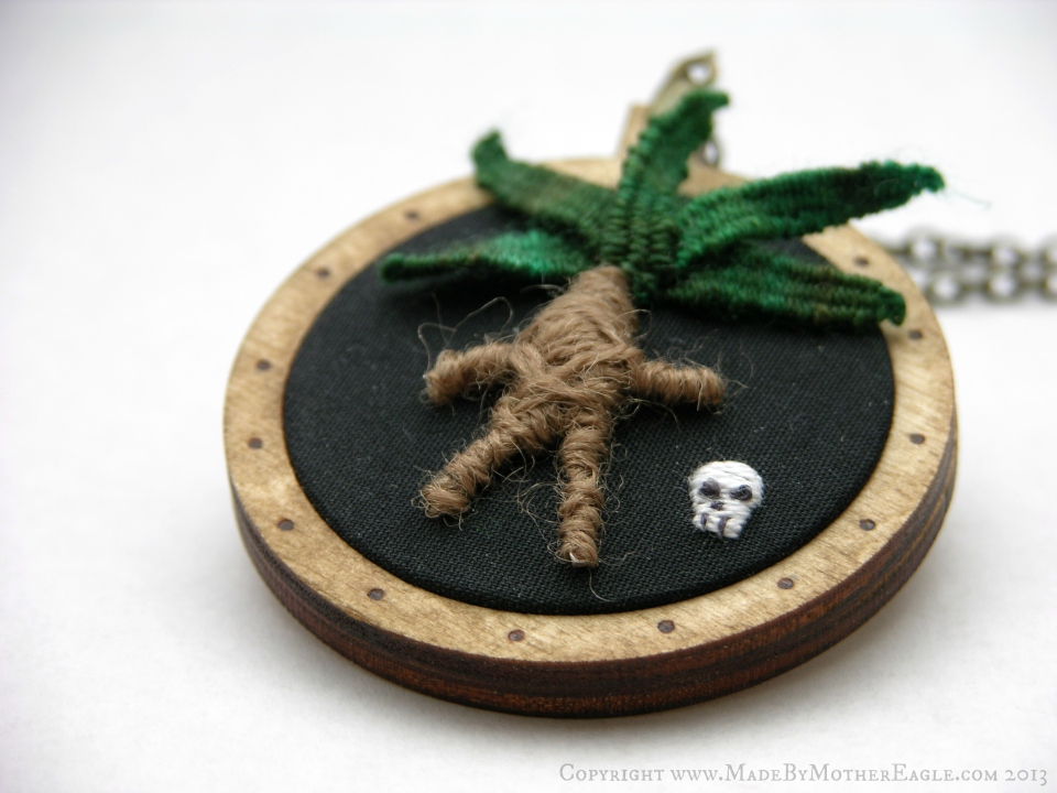 embroidered mandrake root