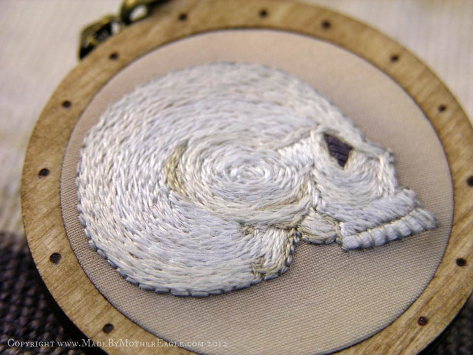 embroidered skull
